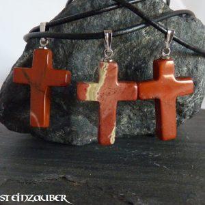 Kreuz aus Rotem Jaspis