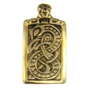 Wikinger Amulett Usaberus aus Bronze