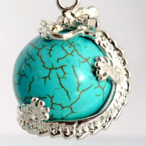 Dragonball aus Howlite Tuerkis