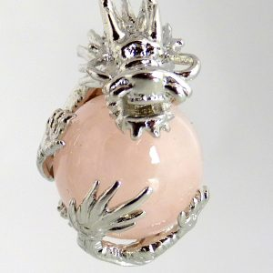 Dragonball aus Rosenquarz