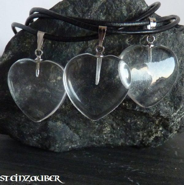 Herz 20 mm aus Bergkristall