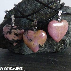 Herz 20 mm aus Rodonit