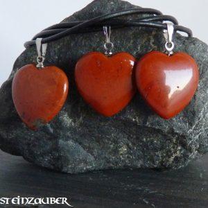 Herz 20 mm aus Rotem Jaspis