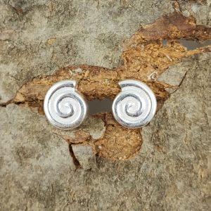 Silber Ohrstecker Spirale 925er Sterlingsilber