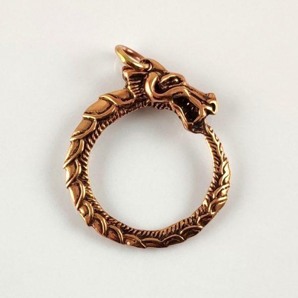 Amulett Mitgardschlange aus Bronze
