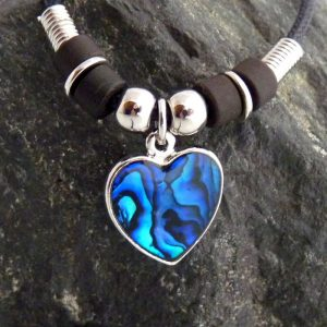 Paua Abalone Kette Herz