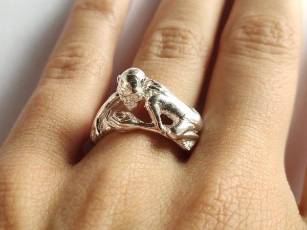 Silberring Gollum aus Herr der Ringe aus 925 Sterlingsilber