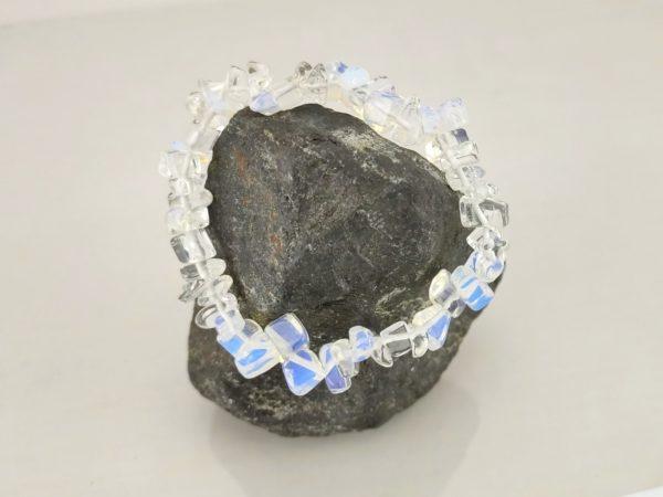 Splitterarmband Opal Glas