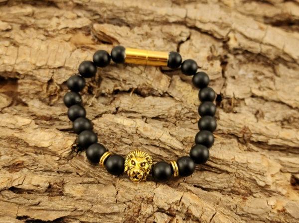 Armband Onyx Löwe
