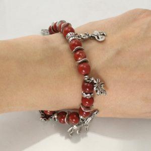 Roter Jaspis Märchenarmband Rotkäppchen