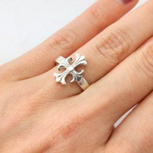 Ring christliches Kreuz Silber