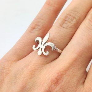 Ring französische Lilie Silber