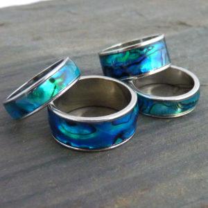 Ring Abalone Edelstahl