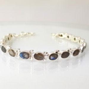 Armband Labradorit Sterling Silber