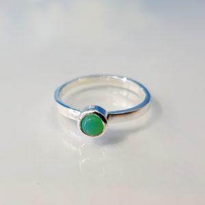 Ring Silber Crysopras Stapelring
