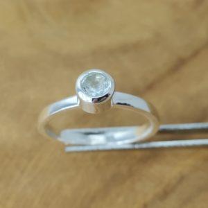 Ring Blautopas Stapelring 925 Silber