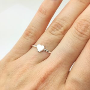 Ring Herz 925 Silber Stapelring