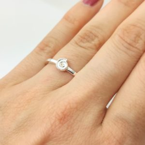 Ring Spirale 925 Silber Stapelring