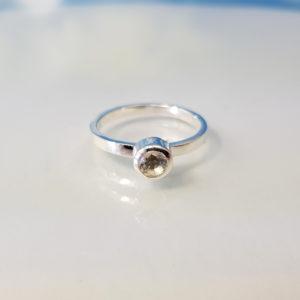 Ring Silber Bergkristall Stapelring