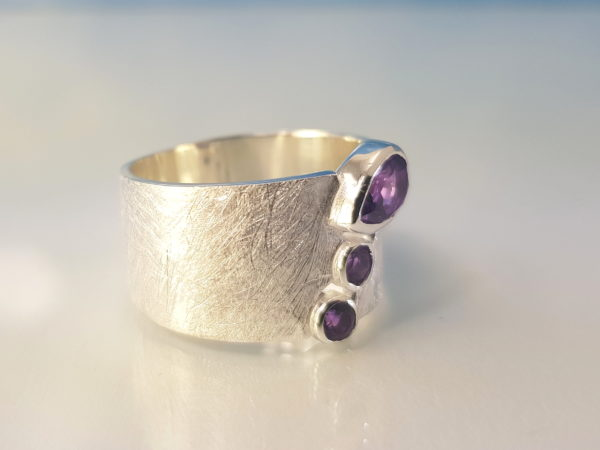 Ring Amethyst Silber