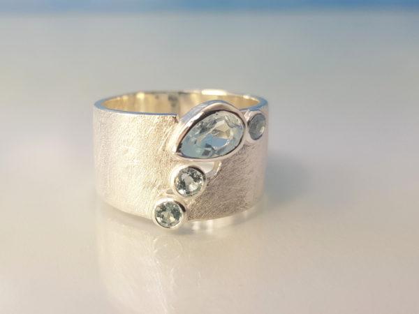 Ring Blauer_Topas Silber