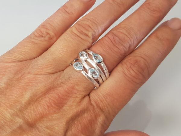 Ring Blauer Topas Silber