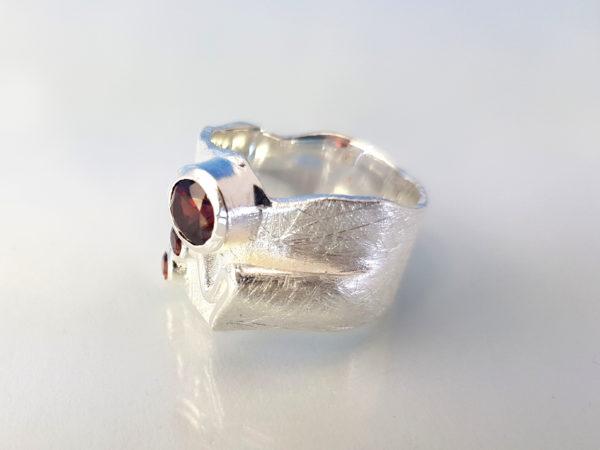 Ring Granat Silber